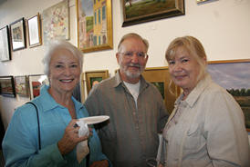League Members: Judy Dioszegi, Skip Wiese and Sheila Brandon